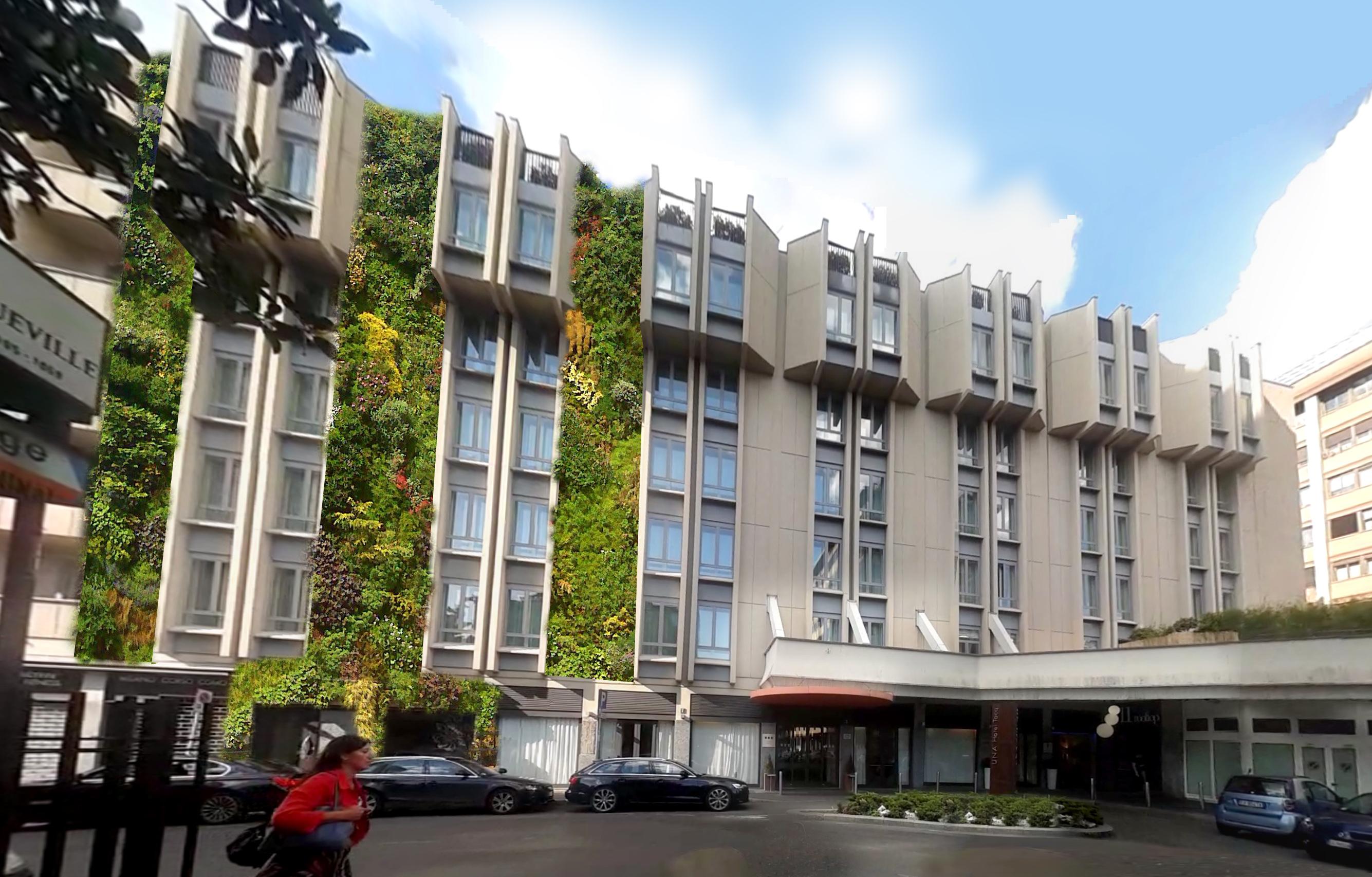 Livingandmore De hotel una tocq facade restyling project pesenti sassi architetti